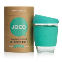 JOCO Glass Reusable Coffee Cup 12oz (Mint)