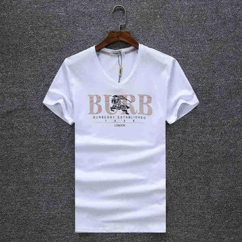 Trendsetter Burberry Women Man Fashion Print Sport Shirt Top Tee