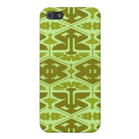 Art Deco Flair - In Green Cover For iPhone SE/5/5s