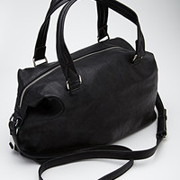 Slouchy Faux Leather Satchel