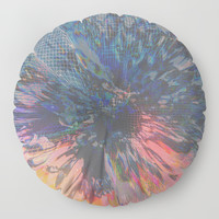 Glitch Wave Floor Pillow by duckyb