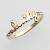 Ariella Collection 'Messages - Lucky' Script Ring (Nordstrom Exclusive) | Nordstrom