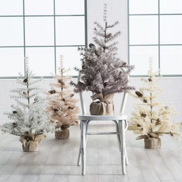 3 ft. Frosted Hard Needle Christmas Tree | Hayneedle
