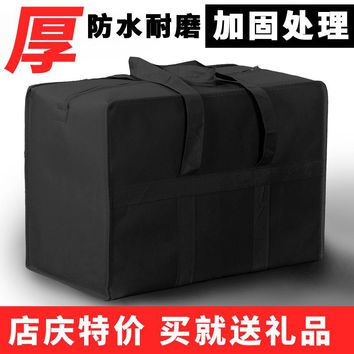 Solid Color Luggage Bag Large Capacity Thick Waterproof Oxford Bags Duffle Bag Huge Snakeskin Nylon Travel Bags for Home