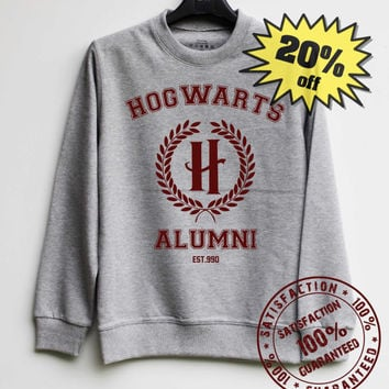Hogwarts Alumni Shirt Harry Potter Sweatshirt Sweater Shirt – Size XS S M L XL