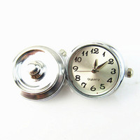 Cream-coloured watch snaps buttons Round DIY Alloy Ginger Snap Watch for snaps bracelets fit ginger snaps jewelry