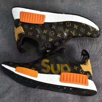 Supreme x Louis Vuitton x adidas NMD Trending Retro Fashion Casual Sports Shoes G-PSXY