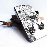 1D harry style tattoos customized for iphone 4/4s/5/5s/5c ,samsung galaxy s3/s4/s5 and ipod 4/5 case
