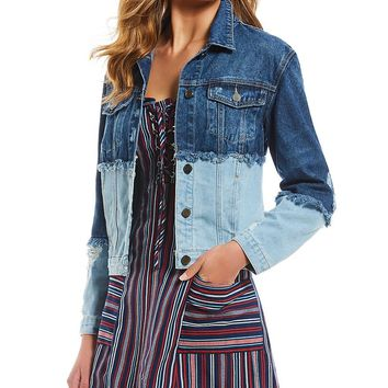 GB Destructed Denim Jacket | Dillards