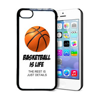 SudysAccessories Basketball Is Life The Rest Is Just Details Thinshell Protective Plastic iPhone 5C Case