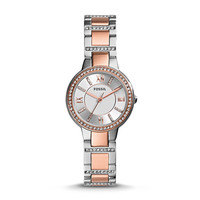 Virginia Three-Hand Stainless Steel Watch – Two-Tone