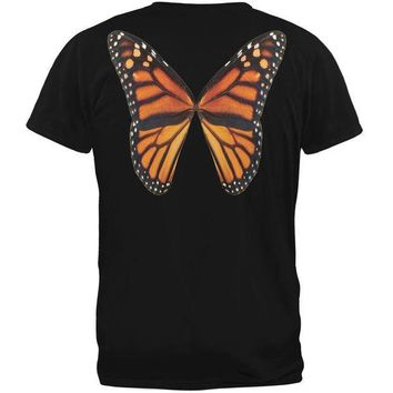 CREYCY8 Monarch Butterfly Wings Costume Black Youth T-Shirt