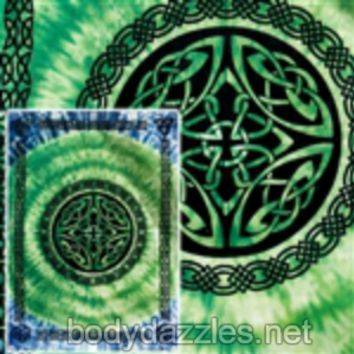 Green Celtic Shield Tapestries Wall Hanging Bohemian Bed Covering Beach Blanket Great Gift