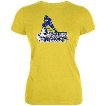 Fast Hockey Player Country Sweden Juniors Soft T Shirt