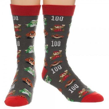Nintendo Super Mario All Over Print Crew Socks