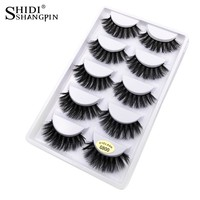 New 5 Pairs Natural false eyelashes thick 3d mink lashes long black soft  mink eyelashes makeup eyelash extension faux lashes
