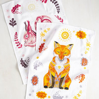 Force of Habitat Tea Towel Set in Warm | Mod Retro Vintage Kitchen | ModCloth.com