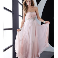 Jasz Couture 2013 Prom - Strapless Pink Elegant Gown - Unique Vintage - Cocktail, Pinup, Holiday & Prom Dresses.