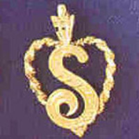 14K GOLD INITIAL CHARM - S #9581