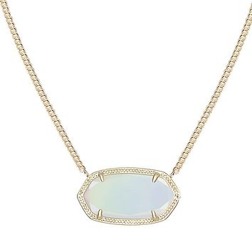 Dylan Pendant Necklace in White Iridescent - Kendra Scott Jewelry