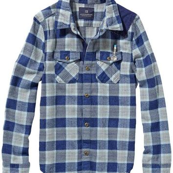 VONES0 Scotch & Soda Boys Checked Shirt