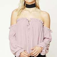 Contemporary Ruffle Crop Top