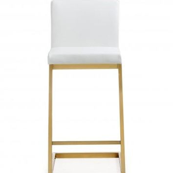 PARA WHITE GOLD STEEL COUNTER STOOL (PRICE SHOWN PER 2 PIECE)