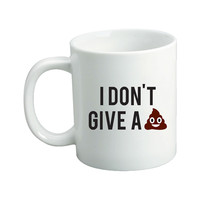 I Don't Give A Emoji Mug