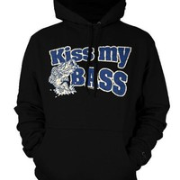 Kiss My Bass Mens Sweatshirt, Hilarious Funny Fishing Mens Pullover Hoodie