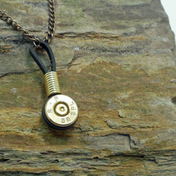 Bullet Necklace Bullet Pendant Single Bullet by ShellsNStuff