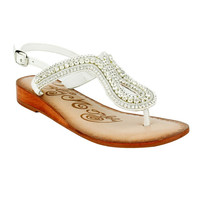Naughty Monkey Alloy Mate White Sandals
