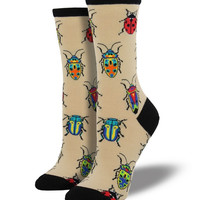 Socksmith Beetles Beige Socks