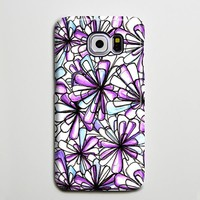 Purple Flowers Crystals iPhone XS Max Case Galaxy S8 Plus Case Galaxy S7 Case Samsung Galaxy Note 5 Case s6-020