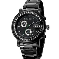 GUCCI Fashion men and women watch business watch Black