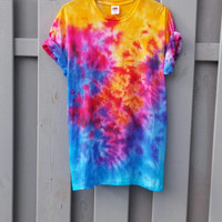 Sunset Paradise Tie Dye Shirt, bright colors, grunge, summer