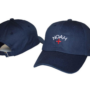 Navy Blue NOAH Embroidered Baseball Cap Hat
