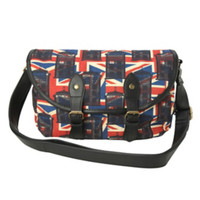 Doctor Who Union Jack TARDIS Canvas Crossbody Bag