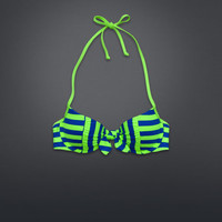 Striped Perfect Push 'Em Up Swim Top