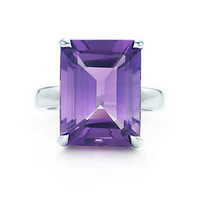 Tiffany & Co. - Tiffany Sparklers amethyst cocktail ring in sterling silver.