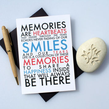 Missing You Card, Thinking of You Card, Sympathy Card, Meaningful Card, Romantic Card, Love Card, Card For Friend, Memories