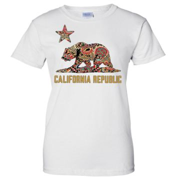 California Republic Paisley Ladies T-Shirt