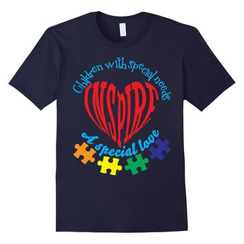 Children With Special Needs Inspire Love Autism Shirt Heart