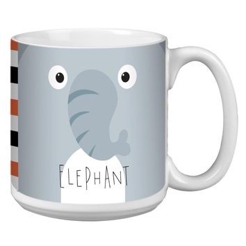 Elephant Animoji Jumbo Mug - Premium 20 oz Ceramic Coffee Tea  & Soup Mug