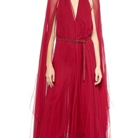 Donna Karan New York Asymmetrical Evening Gown with Belt