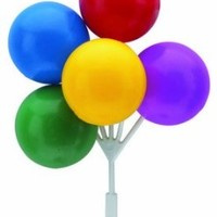 Balloon Bouquet Cluster Cake Topper Decorative Picks - 4 pcs