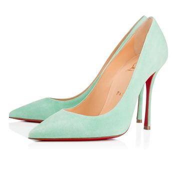 Christian Louboutin Cl Decoltish Opal Suede 17s Pumps 3.17e+178 -