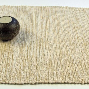 """Handwoven in USA Table Runner 72"""" Cream and Cream"""
