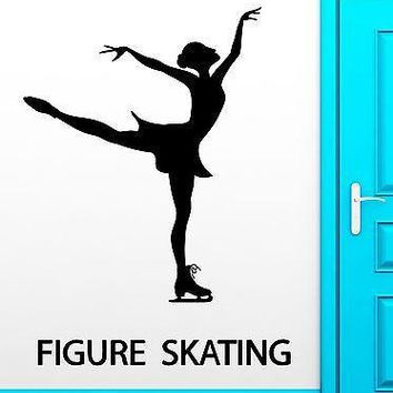 Wall Decal Figure Skating Winter Sport Ice Dancing Vinyl Stickers Mural Unique Gift (ig2549)