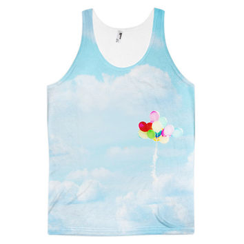 Balloons in the Sky classic fit unisex tank top