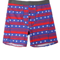 Funderwear Stars And Striped Heather Boxer Briefs - Mens Headphones - Red/White/Blue
